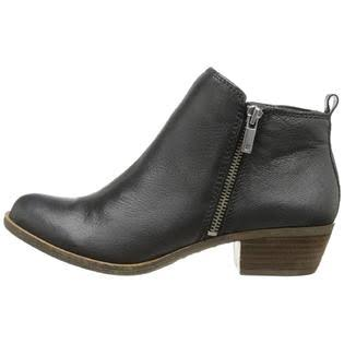 Lucky Brand Basel Zip Up Ankle Booties - US 9, Black 03