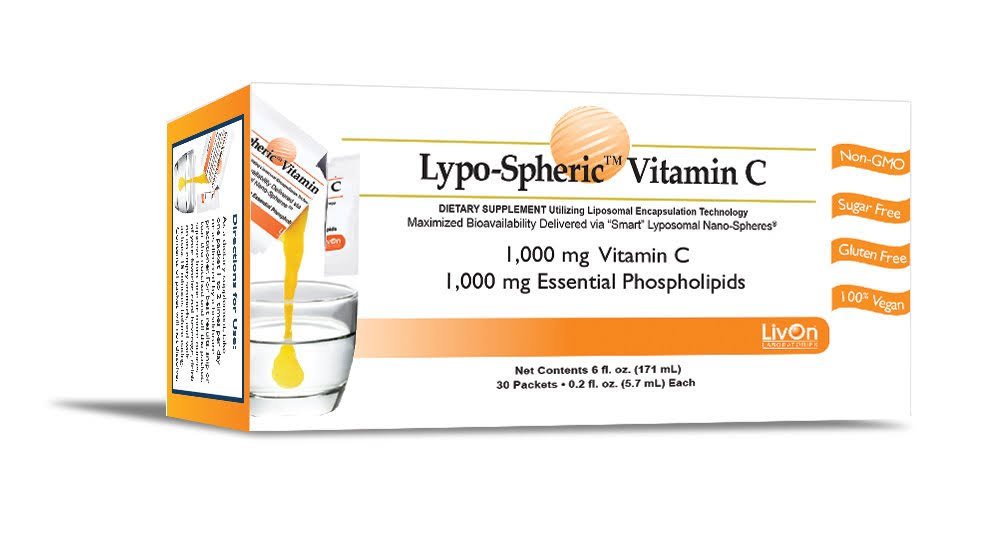 LivOn Labs Lypo-Spheric Vitamin C - 1000mg x 30 Packets