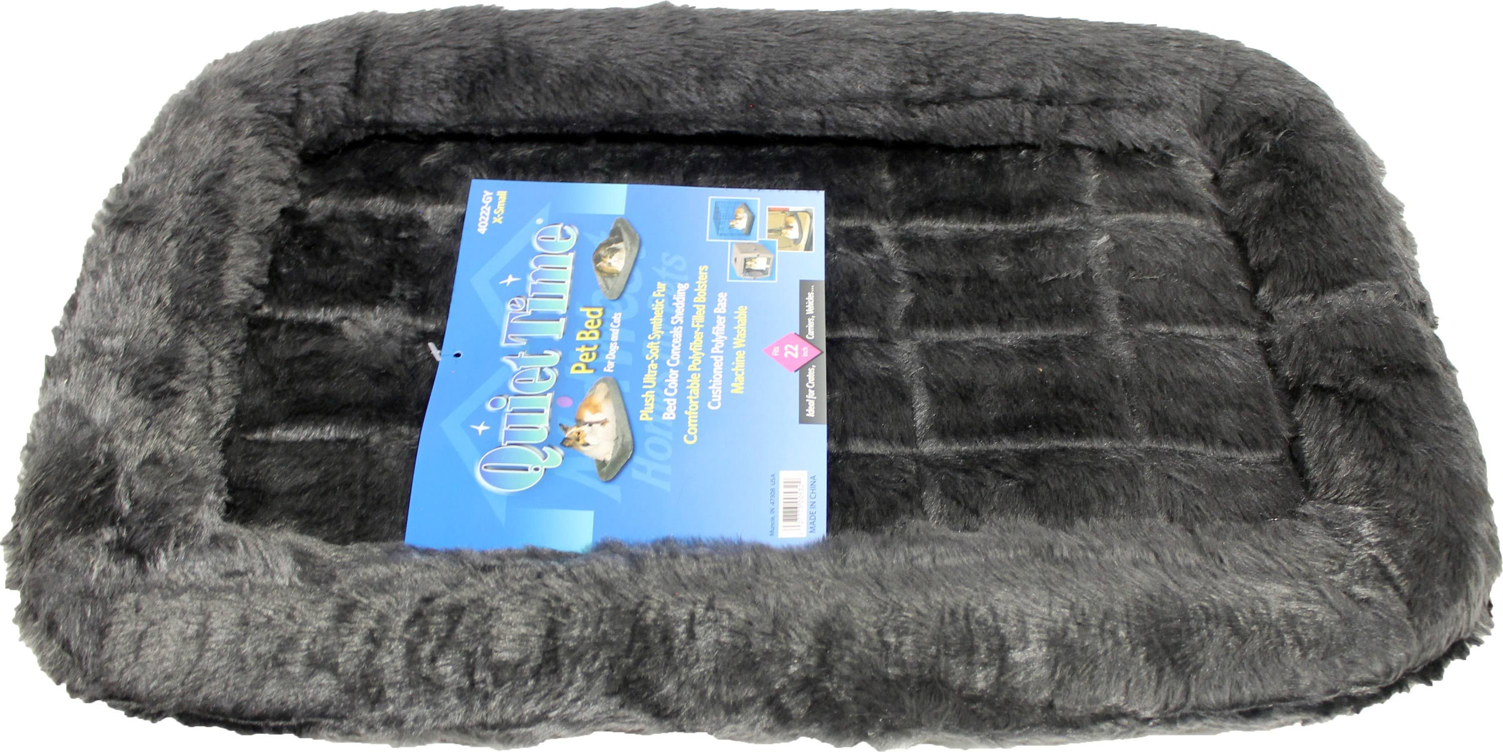"Midwest Quiet Time Pet Bed - Gray, 22"" x 13"""