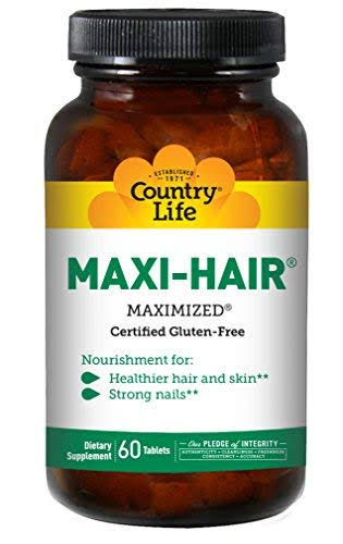 Country Life Maxi Hair Maximized Dietary Supplement - 60ct