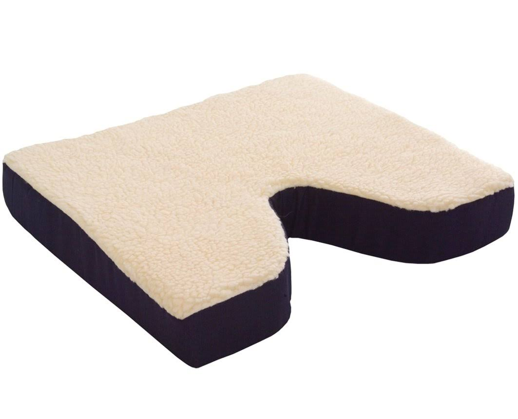 "Essential Medical Supply Fleece Covered Coccyx Cushion - 16""x16""x3"""