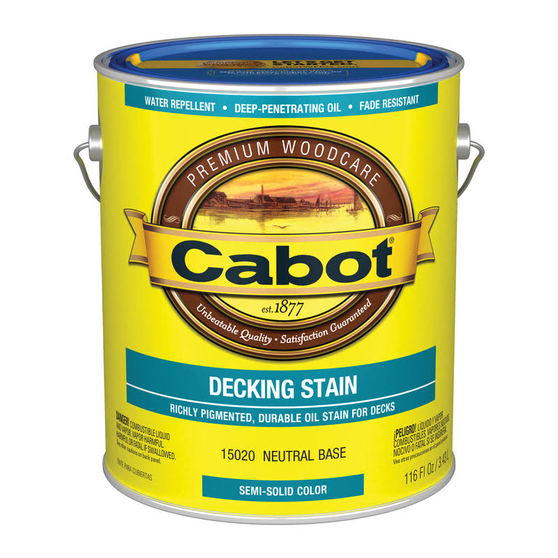 Cabot Semi-Solid Oil-Based Decking Stain Neutral Base Tintable 1 gal.