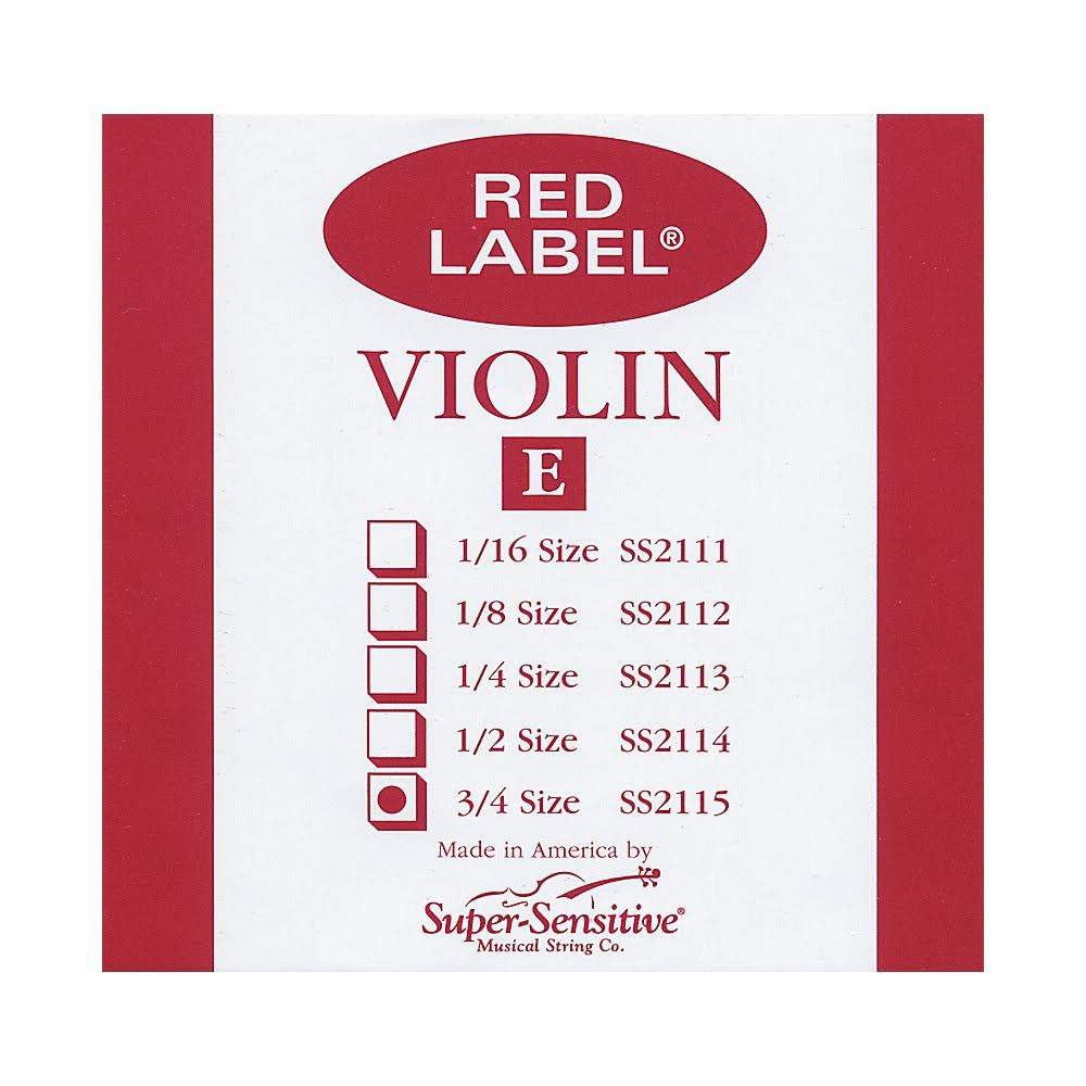 Super Sensitive 2115 Coated Steel Violin Strings - Custom, E String