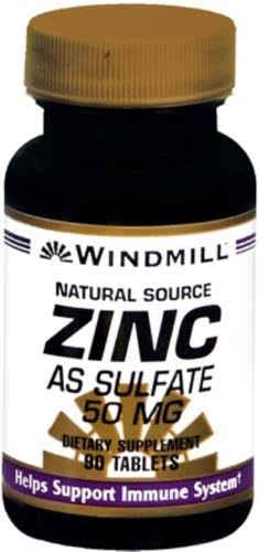Windmill Zinc Sulphate - 50mg, 90 Tablets