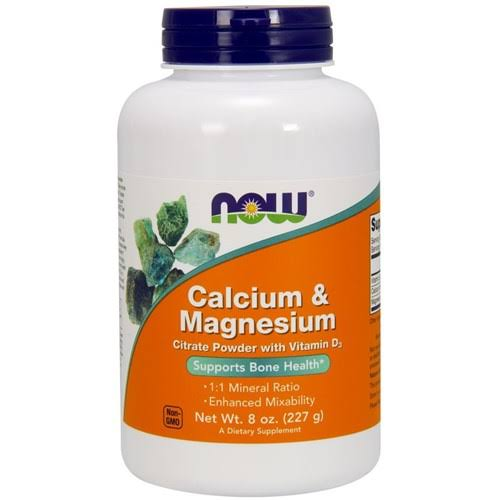 NOW Foods Calcium and Magnesium Citrate Powder Supplement - 8oz