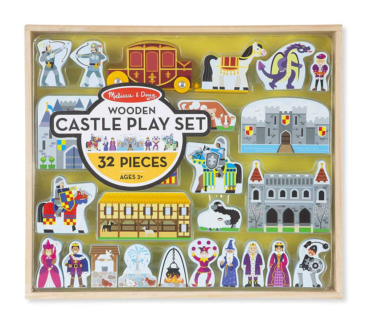 Melissa & Doug - Wooden Castle Play Set