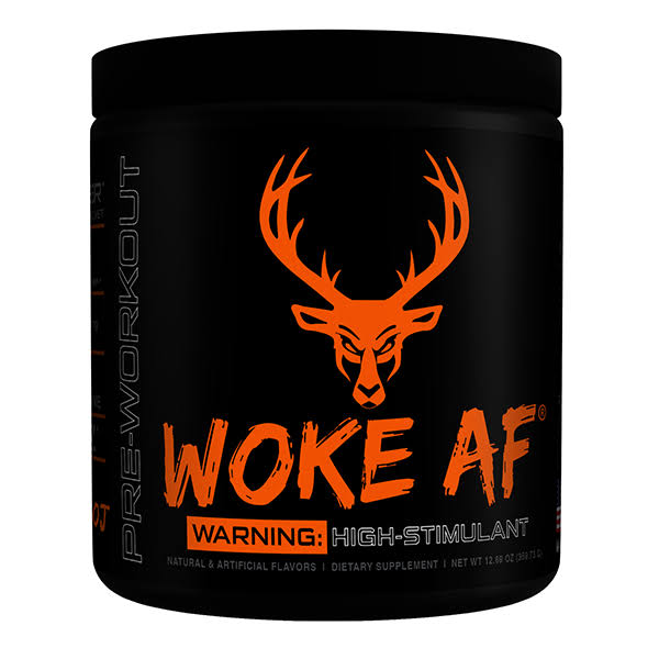 Woke AF 30 Servings Pre-Workout Bucked Up Killa OJ Flavor