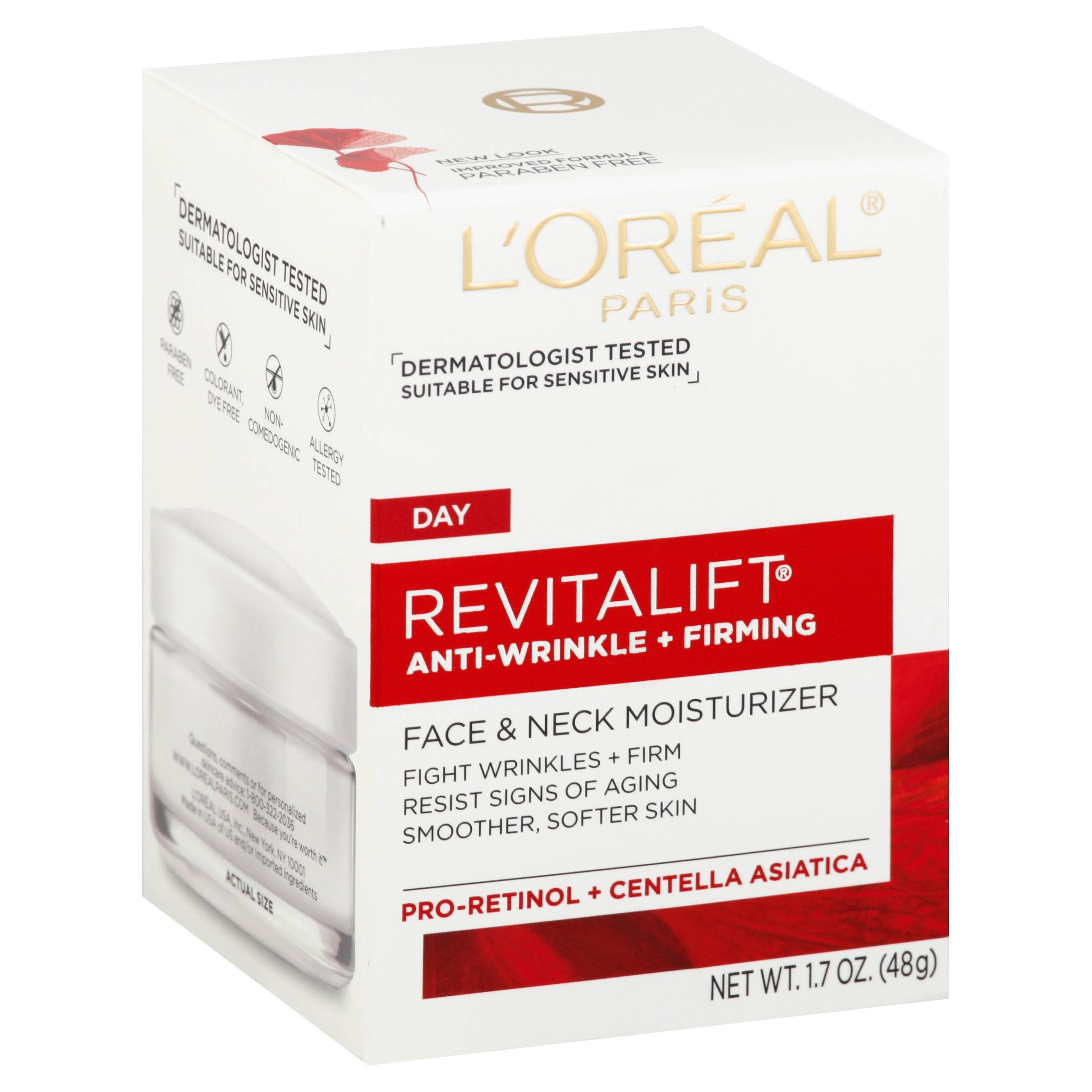 L'Oreal Paris Revitalift Anti Wrinkle and Firming Face and Neck Contour Cream - 1.7oz