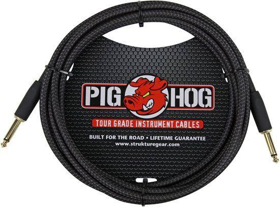 Pig Hog Instrument Cable - 10', Black Woven