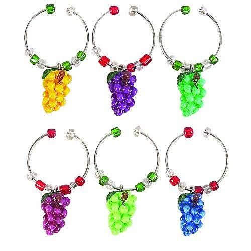 Boston Warehouse Napa Grapes Wine Charm Set
