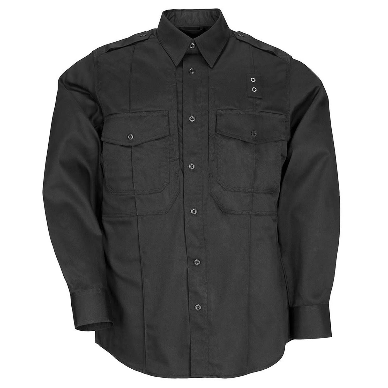 5.11 Tactical Men's PDU Long Sleeve Twill Class B Shirt Black