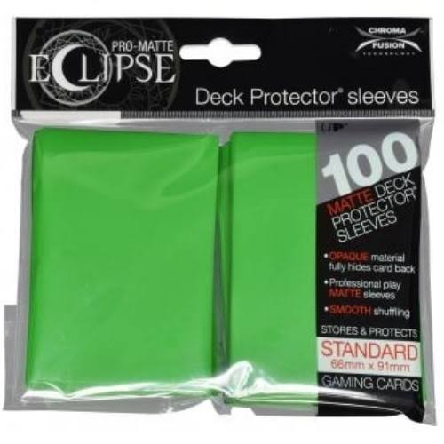 Ultra Pro Pro-Matte Eclipse Lime Green Standard (100) Deck Protector Sleeves