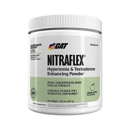 GAT Nitraflex Hyperemia & Testosterone Enhancing Powder - Green Apple, 30 Servings