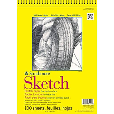 Strathmore 300 Series Sketch Pad - 100 Sheets
