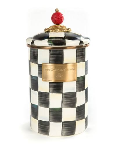 MacKenzie-Childs - Courtly Check Enamel Canister - Large