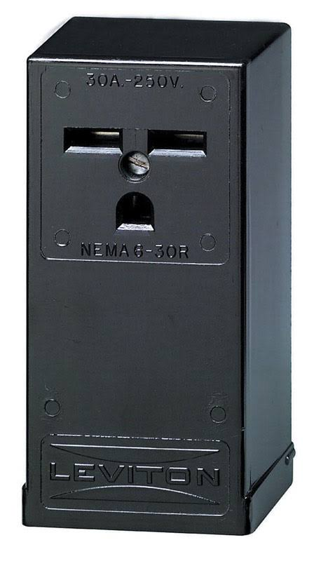 Leviton 32896 30 Amp 250V Outlet for 6-30R Black