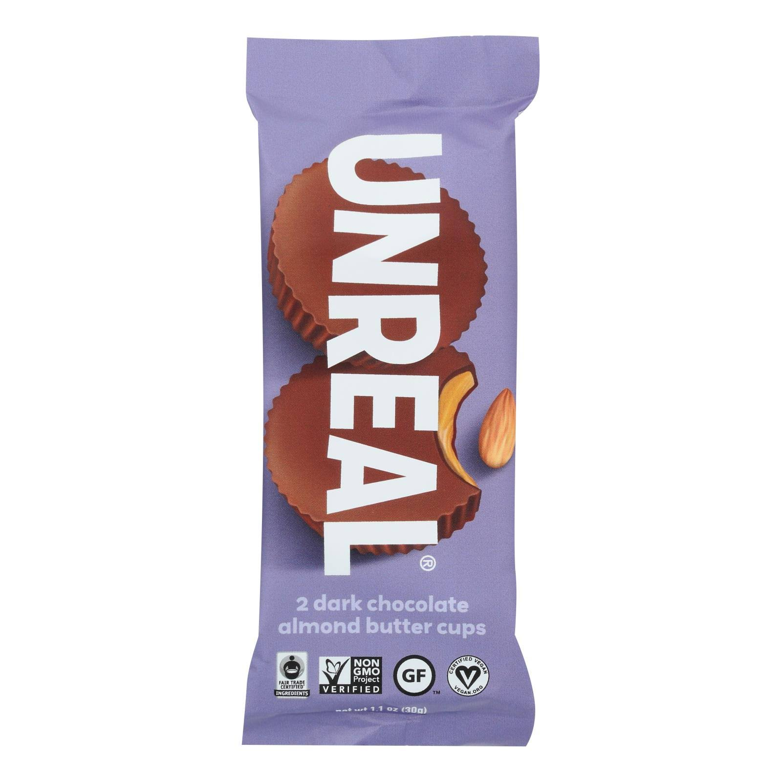 Unreal: Dark Chocolate Almond Butter Cups, 1.1 oz