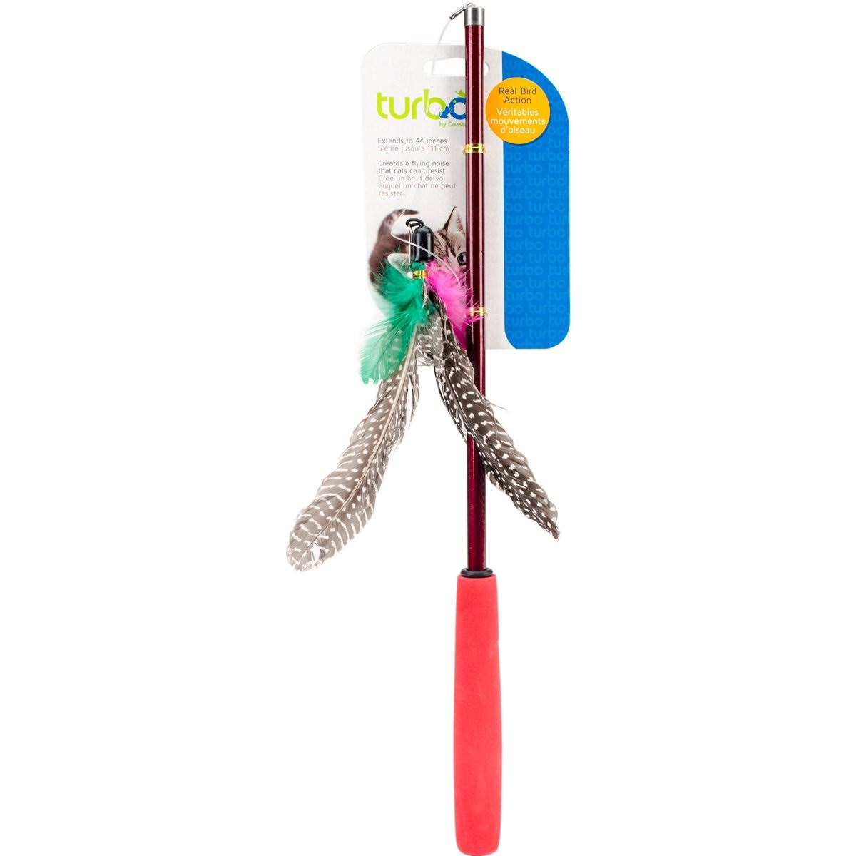 Turbo Telescoping Flying Teaser Cat Toy - 2ct