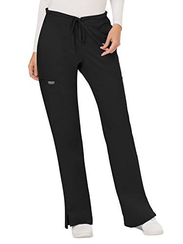 Cherokee Workwear WW120P Mid Rise Moderate Flare Drawstring Pant - Black - XXS