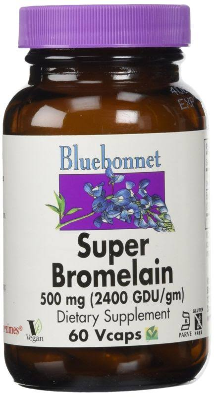 Bluebonnet Super Bromelain Supplement - 500mg, 60 Vcaps