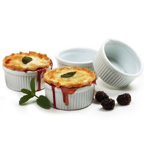 Norpro Porcelain Ramekin Set - White, 8oz, Set of 4