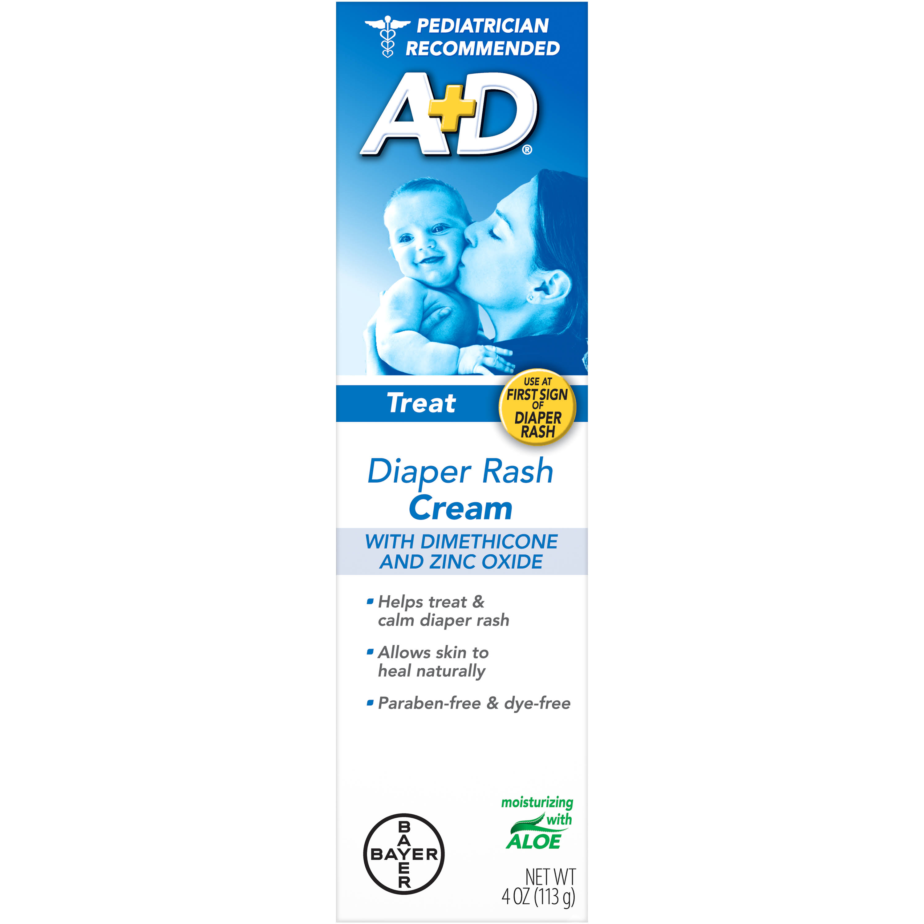 Bayer A+D Treat Diaper Rash Cream - 4 oz