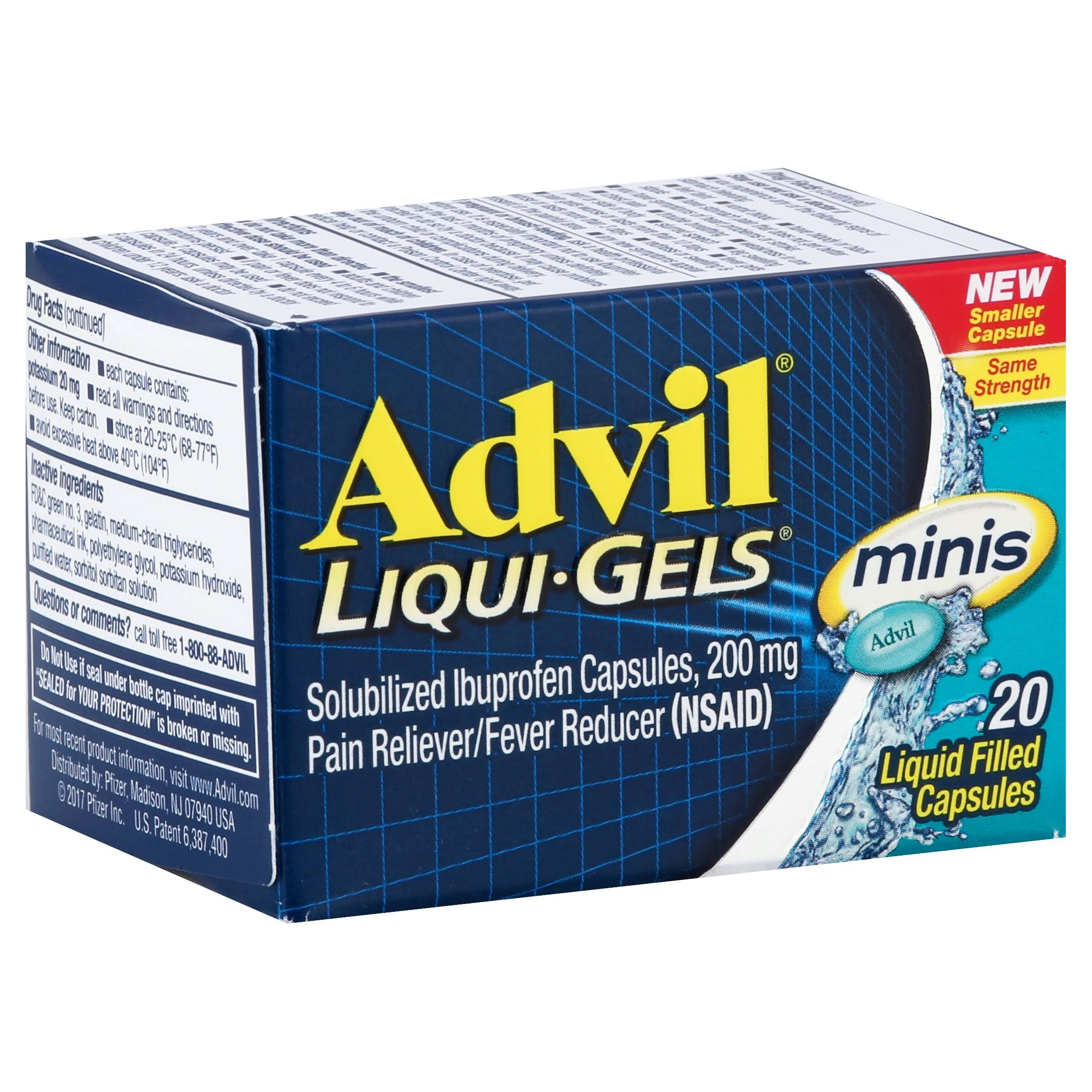 Advil Liqui-Gels Minis Pain Reliever - 20ct