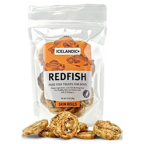Icelandic+ Redfish Skin Rolls Dog Treats - 3 oz