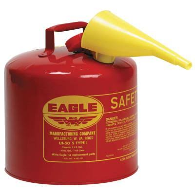 Eagle Type I Safety Gas Can - with Removable Funnel, 1gal