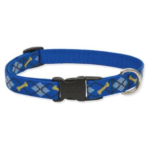 Lupine Dapper Dog Patterned Adjustable Dog Collar - for Medium-Large Dogs, 13-22""