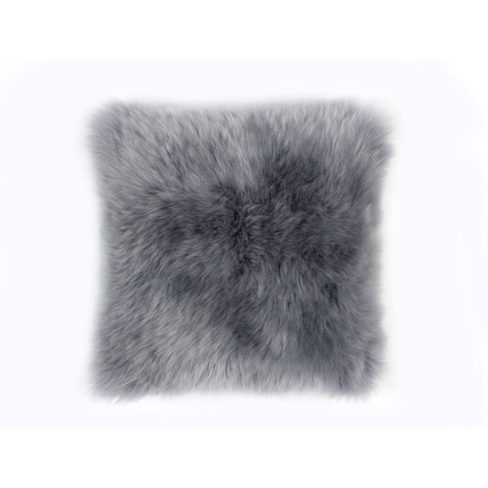 Tibetan Lambskin 16 Cushion - Birch, 35x35cm