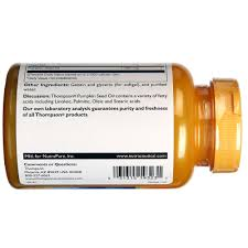 Pumpkin Seed Oil Prostate Side Effects by Thompson Pumpkin Seed Oil 1 000 Mg 60 Softgels Evitamins India