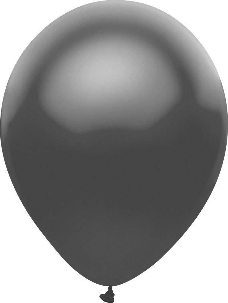 PartyMate 12508 Solid Color Latex Balloons 72-Count Black