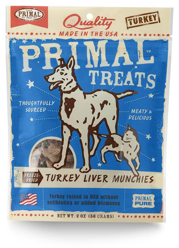 Primal Dog and Cat Treats - Turkey Liver, 2oz