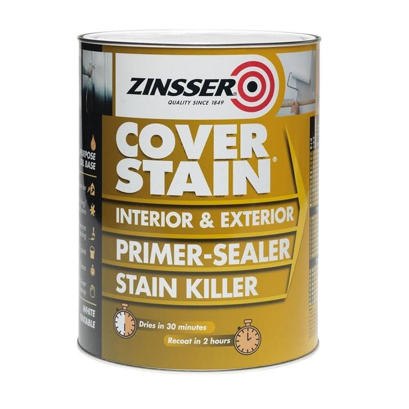 Zinsser Coverstain Primer - Interior & Exterior, 500ml
