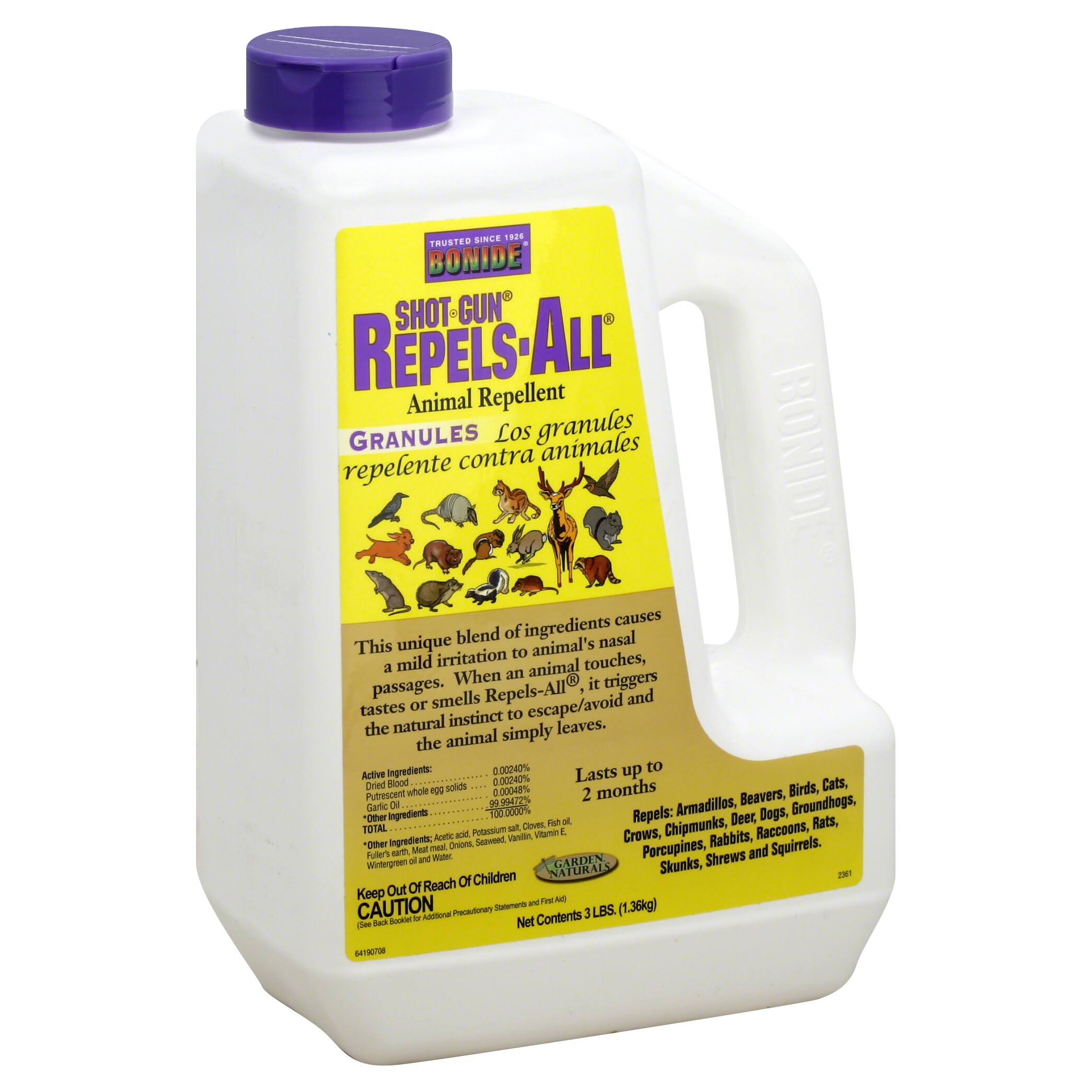 Bonide 2361 Repels-All Animal Repellent Granules - 3 lbs