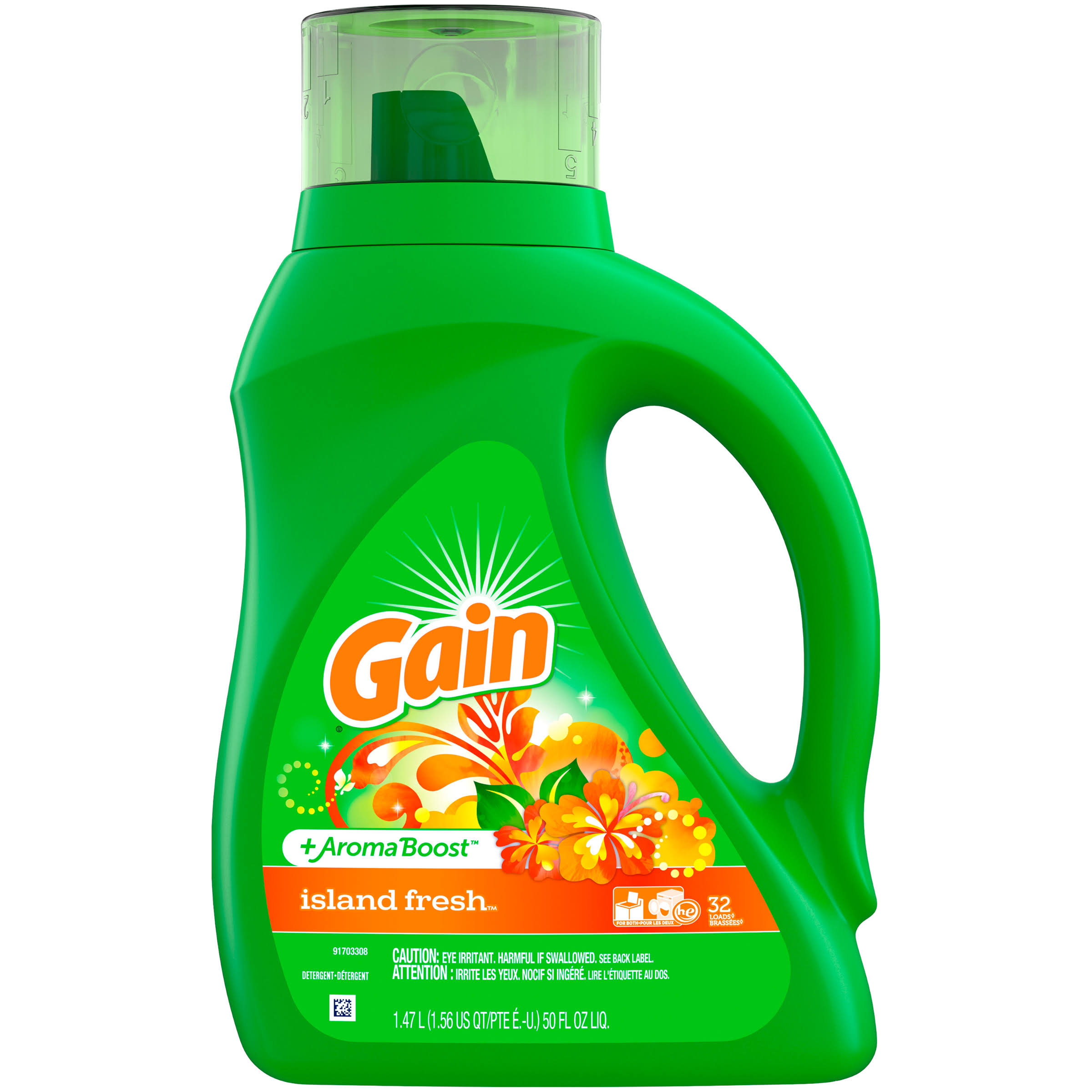 Gain Lift and Lock Island Fresh Laundry Detergent - 32 Loads, 50oz