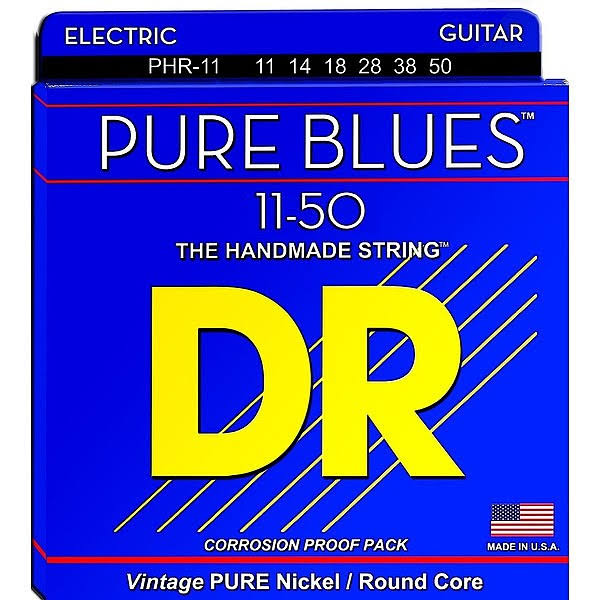 DR Strings PHR11 Pure Blues Nickel Heavy Electric Guitar Strings - 11 to 50 Gauge