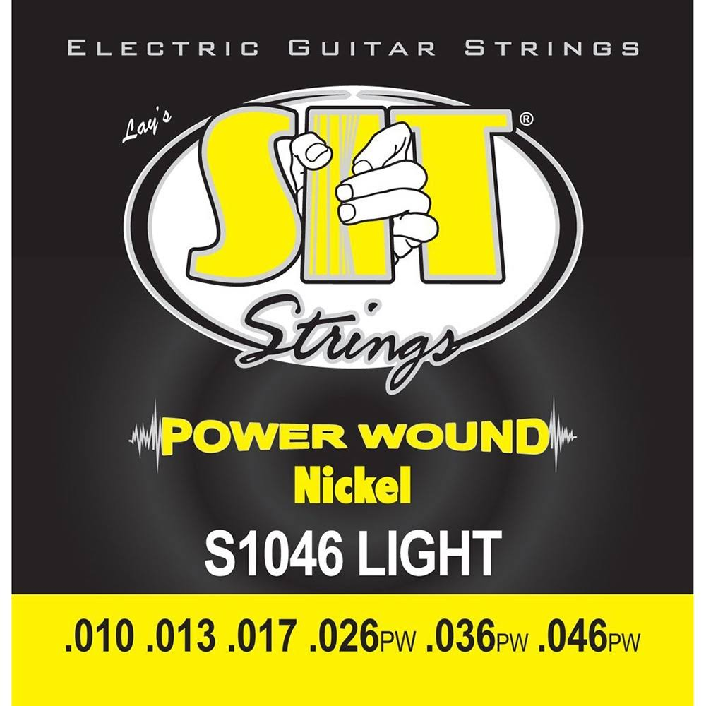 Sit Power Wound Electric Guitar Strings - S1046 Light
