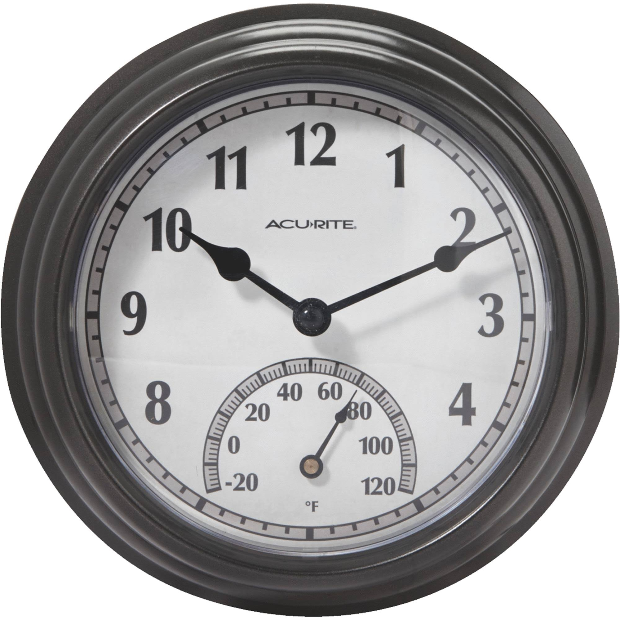 Acu-Rite Indoor Outdoor Clock And Thermometer