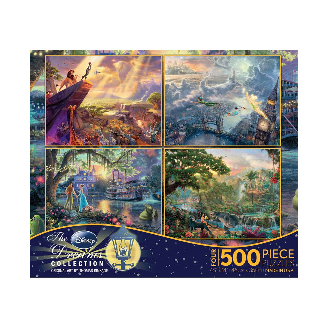 Ceaco Disney The Dream Collection Puzzle - 500 Pieces, 4 Puzzles