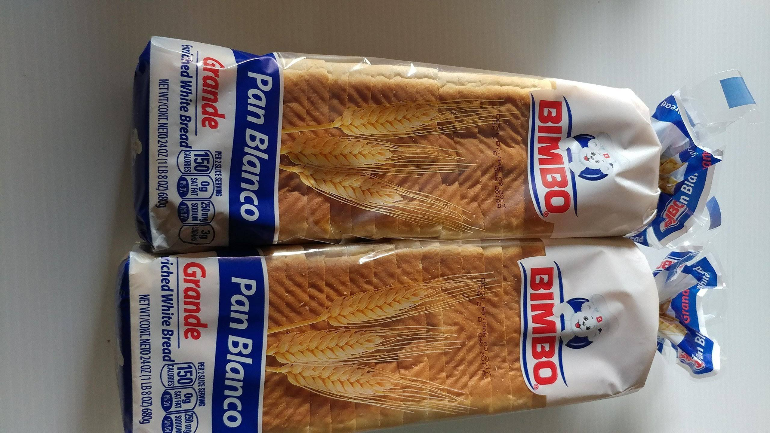 Bimbo Large White Bread - 680g