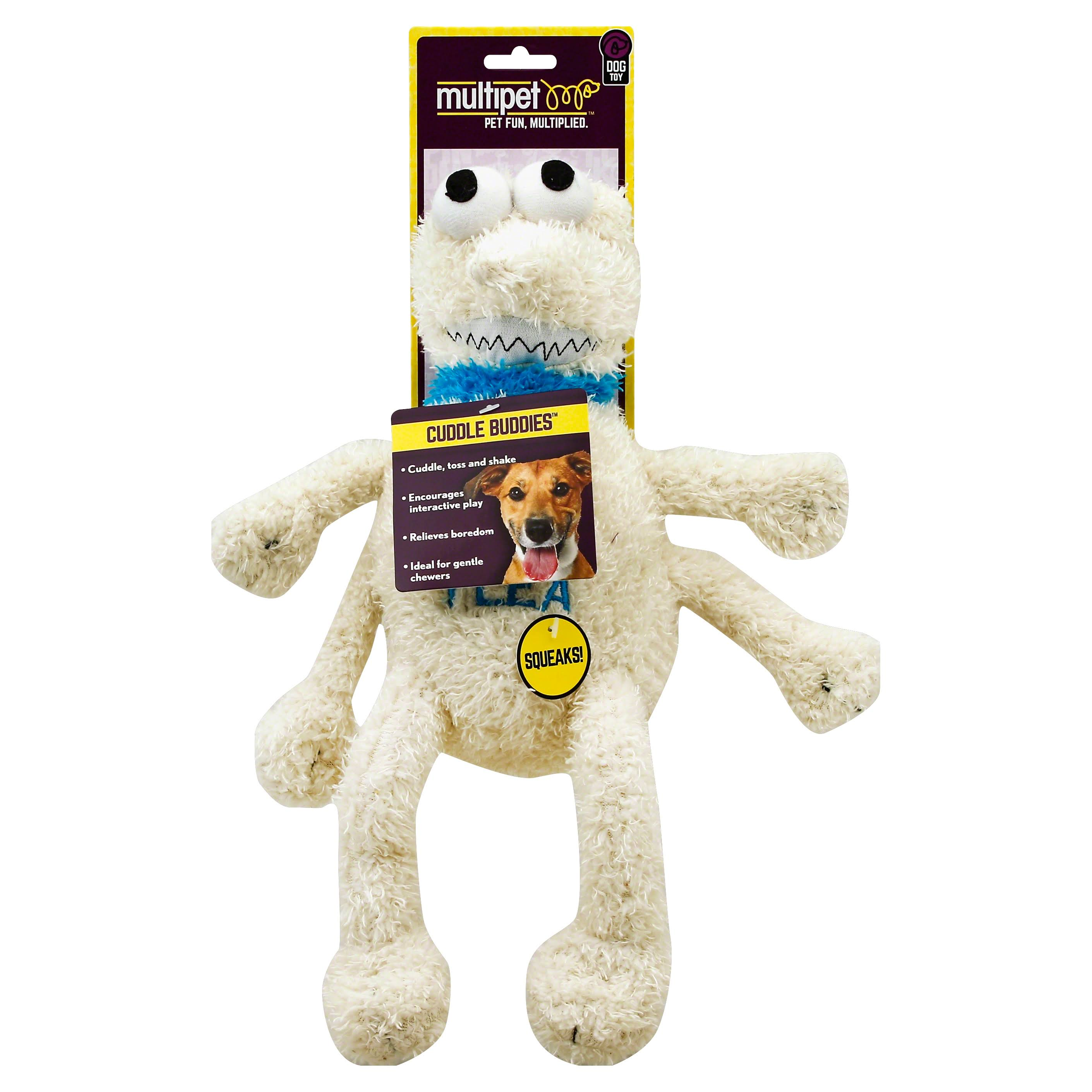 Multipet Flea Plush Dog Toy - Large, 12""