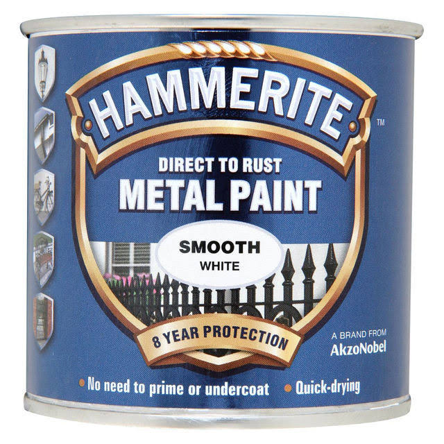 Hammerite Metal Paint - Smooth White
