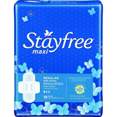 Stayfree Regular Maxi Pads with Wings