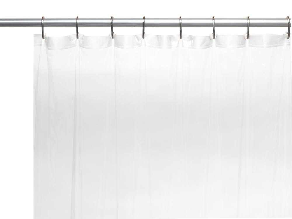 "Carnation Home Fashions Vinyl Shower Curtain Liner - Super Clear, 72"" Wide x 84"" Long"