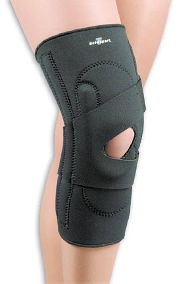 Safe-T-Sport Lateral Knee Stabilizer Left Black SM