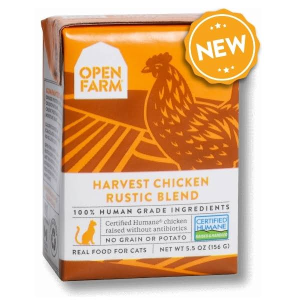 Open Farm Harvest Chicken Rustic Blend Wet Cat Food 5.5 oz