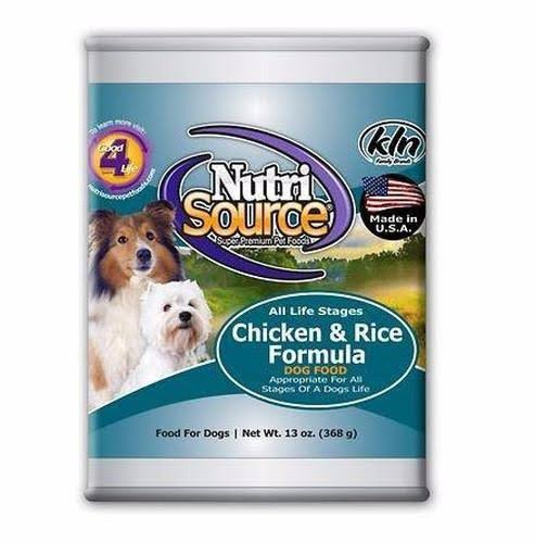 Nutrisource Canned Dog Food - Chicken and Rice, 12pk, 13oz