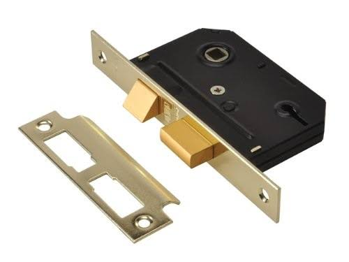 Union ES SL Essentials 3 Lever Mortice Sashlock - Brass, 65mm
